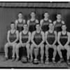 Sports - Basketball<br /> Top Row: Adam Wilson, Marti Blanch, Marshall Holm, Curly Kehoe.<br /> Bottom Row: Bob Wilson, Oscar Quinones, Dean Fredricks, Charlie Smith, and Ray Medbeuvy.<br /> Photo - By Niagara Gazette - 1933.