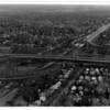 Streets - Niagara falls<br /> New LaSalle Expressway I190 Interchange looking east.<br /> Photo - By James Neiss - 12/10/1971.