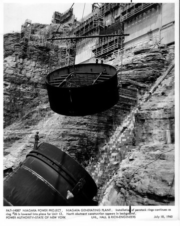 Niagara Power Project, Power Authority construction July 10, 1960