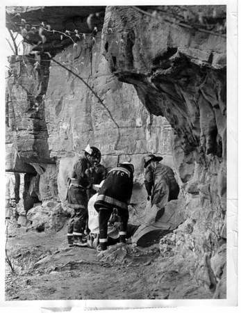 Niagara River - rescues<br /> Photo - By Niagara Gazette - 4/29/1973.