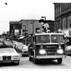 Christmas - Niagara Falls Fire Department<br /> Santa coming down Main Street near Niagara Ave.<br /> Photo - By John Kudla - 12/1/1984.