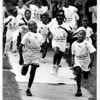 Drugs - Fighting Against Drugs<br /> The start of the 8 - 12 year old runners in the Run Against Drugs at Center Court. Sponsored by Niagara Falls Housing Authority with the help of Citizens Against Substance Abuse. 250 runners and walkers took part.<br /> Photo - By Ron Schifferle - 8/24/1990.