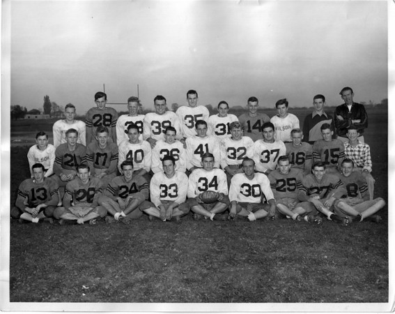 Sports - Football<br /> Wilson High School Football Team.<br /> Photo - By Niagara Gazette - 1950.