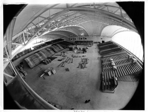 Convention Center <br /> Convention Center under construction.<br /> Photo - By Niagara Gazette - 3/24/1980.
