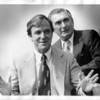 Niagara Falls, Rescue, Roger Woodward with rescuer Capt L. McGinn of the Maid of the Mist. July 5, 1980