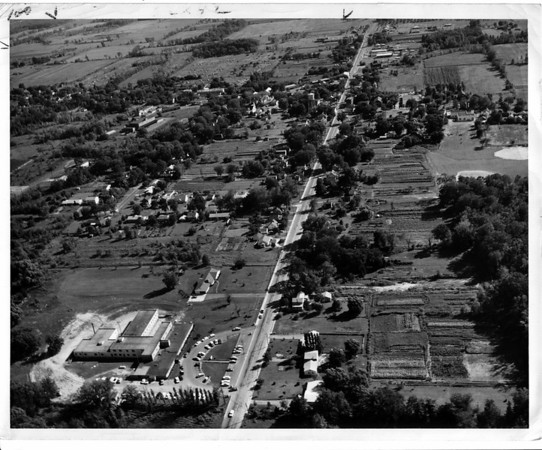 Streets - Ransomville<br /> Aerial view of Ransomville.<br /> Photo - By Leep Zelones - 9/15/1964.