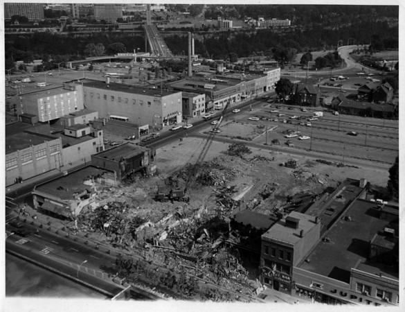 Convention Center<br /> Lower left corner of Falls Street and South Main Street.<br /> Photo - By Niagara Gazette - 10/21/1971.