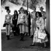 """Film makers """"Niagaaravation"""" Alien Group lands at the falls - 10/17/1991 Ron Schifferle photo."""