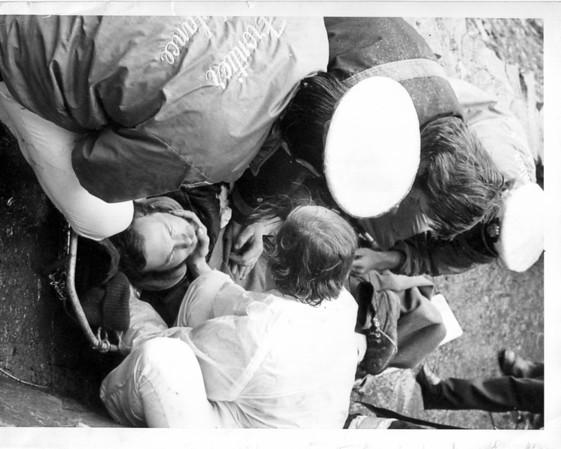 Niagara River - Rescues<br /> Rescue Team<br /> Photo - By Niagara Gazette - 4/29/1973.