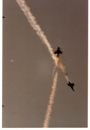 Airplane - Airshow <br /> 1985 Airshow Accident.<br /> Photo - By Peter Wcislo - 1985.