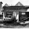 Fires - Niagara Falls<br /> Garage Fire behind 445 Ninth Street about 4:00am.<br /> Photo - By Ron Schifferle - 6/27/1991.