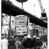 Niagara Power Project Power Authority Construction. First Concrete pour April 2, 1959.