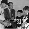 Sports - Baseball<br /> Irv Noren - Pirates Manager and Sal Maglie - Niagara Falls Baseball Club President.<br /> Noren and Maglie played for the St. Luis Cardinals in 1958.<br /> Photo - By Niagara Gazette - 1970.