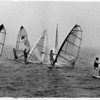 Boats - Windsurfers<br /> Windsurfers move out at the beginning of the first race on Lake Ontario off of Wilson Tuscarora State Park.<br /> Wilson Windsurfing W-Race.<br /> Photo - By James Neiss - 8/5/1990.