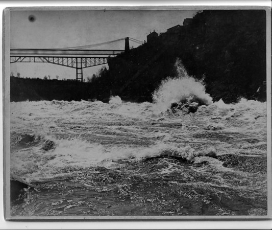 Niagara Falls Rapids in Lower River photo by G.E Curtis & Co.