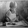 Art - Young Artist<br /> A young artist - early images.<br /> Sandy Greiner - Meyer of Quincy, Il.<br /> Photo - By Rn Schifferle - 10/7/1990.