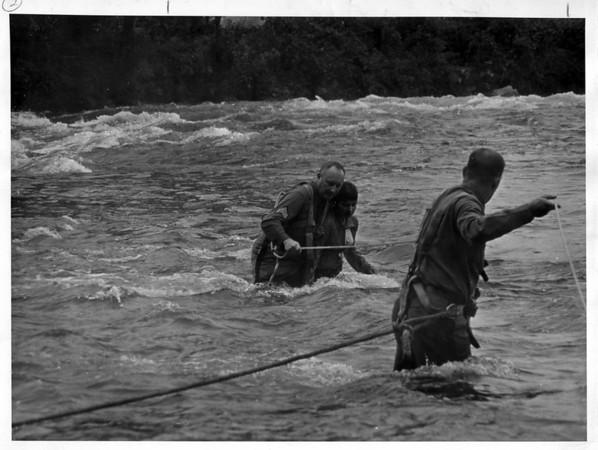 Niagara River - Rescues<br /> Photo - By niagara Gazette - 10/7/1972