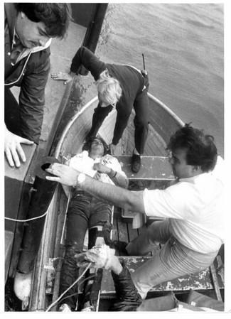 Niagar River - Rescues<br /> Richard J. Weslowski<br /> Photo - By Jim P. McCoy - 10/8/1985.