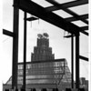 Buildings - Hooker<br /> Steel Structure of new office building.<br /> Photo - Andrew J. Susty - 8/20/1980.