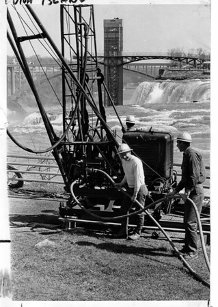 Niagara Falls - Remedial Work, 1966<br /> Photo - By Niagara Gazette - 5/2/1966.