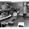 Prisons - Lockport County jail<br /> Lockport County Jail inmates, from left to right: James Doxey, top, Clesson Wright, left, ad Paul Taczak, right, use bunks in recetion area. Due to crowding bunks and inmates are now using this room.<br /> Photo - By 2/28/1991.