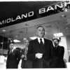 Banks - Marine Midland Bank<br /> Opening of the New Marine Midland Bank in the Rainbow Center.<br /> From left to right - Paul Schoelkopf, Jr. Director of Marine, Mayor Michael C. O'Laughlin, Donald L. Ridge, Niagara District Vice President Marine, and Charles M. Mitschow, Regional Executive Vice President Marine.<br /> Photo  - By Ron Schifferle.