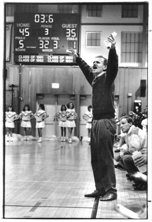 Sports - Patrick Monti Patrick Monti former LaSalle Boys Varsity Basketball Coach. Photo - By James Neiss - 2/11/1992.