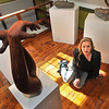 """James Neiss/staff photographerLewiston, NY - Artist Julie Silver of Lewiston in her studio gallery with a sculpture titled """"Lorien,"""" after a dear friend."""
