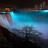 James Neiss/staff photographerNiagara Falls, NY - The American falls were lit up at 7:30 p.m. on Friday in recognition of colon cancer awareness month..