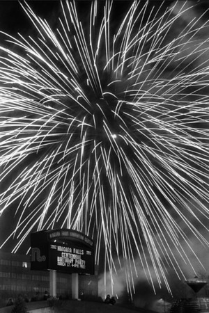 Historic Snapshot: Here's a shot by James Neiss from March 17, 1992 of fireworks behind Lacky Plaza to commemorate the Centenial Birthday of Niagara Falls.