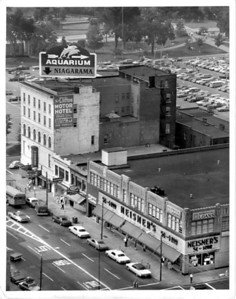 Urban Renewal Far right bottom corner main Street and Falls Street. Photo - By Niagara Gazette.