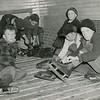SKating in the Berkshires, Springside Park, January, 1942.