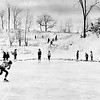 Skating at Springside Park, Pittsfield, December, 1963. Photo by William Tague.