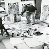 """Norman Rockwell Norman Rockwell working on """"The Connoisseur"""" in 1962 for a Saturday Evening Post cover. Photo by Louie Lamone"""