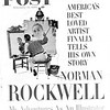 """Copy photograph of February, 1960 Saturday Evening Post cover with  """"Self Portrait"""" Norman Rockwell. Oil on canvas.  Photo  by Louie Lamone"""