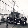 Rescue 1's very new 1963 Ford/American Marsh heavy rescue got off lightly after being cut off while responding westbound on King, east of Portland sometime in 1963.<br /> <br /> From the collection of Jon Lasiuk