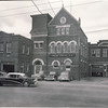 his 1956 view shows TFD Station #20 on the far right a year or so before demolition for the construction of what is now TFS Station #423 at 358 Keele St. #9 Police Station became 11 Division and relocated to Mavety St. at the same time. The original Town of West Toronto Junction Fire Station #1 is on the far left, at that point used as the police garage. <br /> <br /> From the collection of Jon Lasiuk