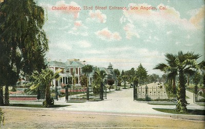 Chester Place, 23rd Street Entrance, Los Angeles, California, ca. 1915-1930