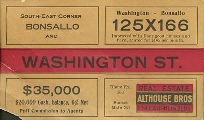 Washington St. advertisements
