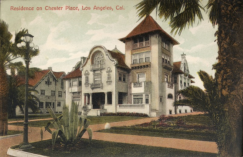 Residence on Chester Place, Los Angeles, Cal.