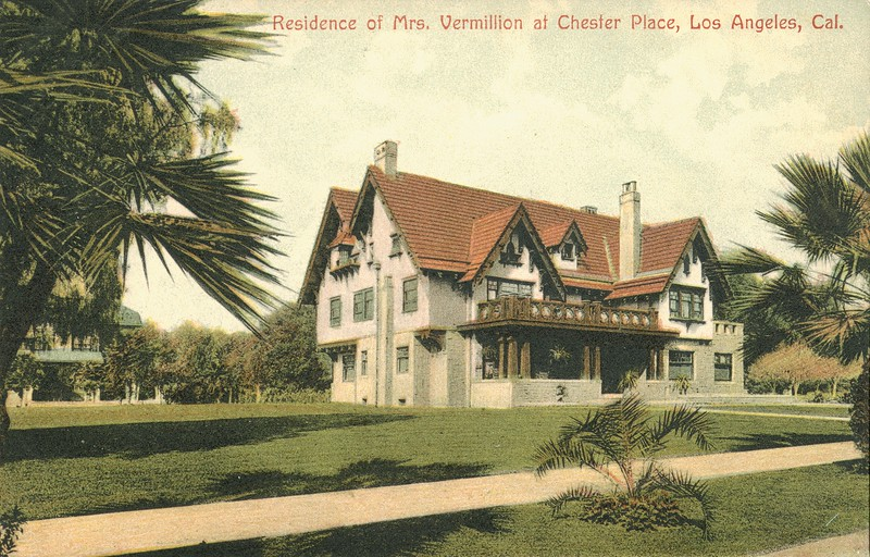 Residence of Mrs. Vermillion at Chester Place, Los Angeles, California.