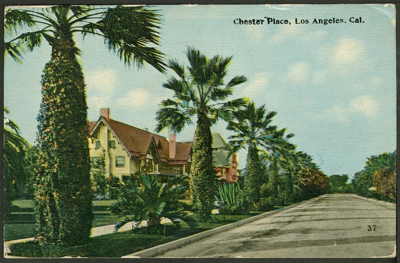 37. Chester Place, Los Angeles, California.