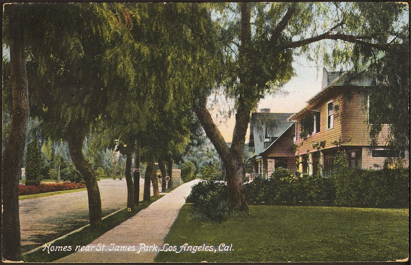 Homes near St. James Park, Los Angeles, Cal.