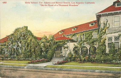 Girls' school, corner of Adams and Hoover Streets, Los Angeles, ca.1915-1942