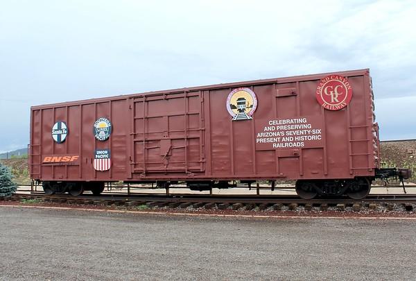 Commemorative boxcar - Williams, Arizona (2018)