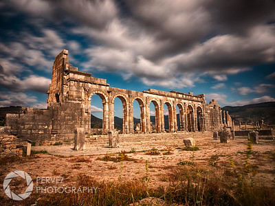 The Basilica at Volubilis, a partly-excavated Berber and Roman city about an hour outside of Fes in Morocco
