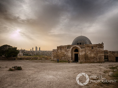 Umayyad  Palace at the Amman Citadel near sunset