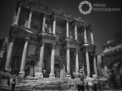 The historic Library of Celsus in Ephesus, Turkey