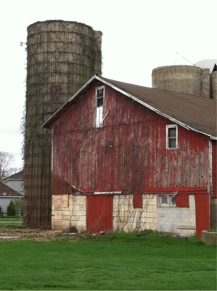 Silos with no tops.