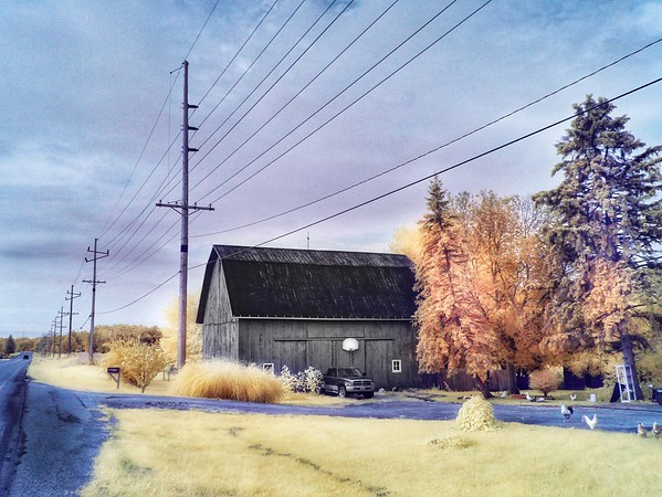 Color Infrared image on Route 13